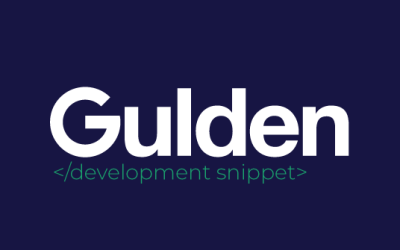 New twitter service: Gulden Development Snippets
